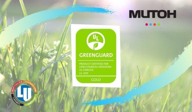 MUTOH ottiene la certificazione GREENGUARD GOLD